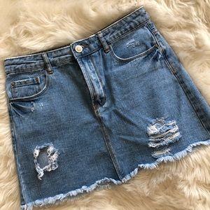 Forever 21 LA ⚡️ Distressed Denim Skirt